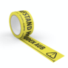 Social Distancing tape yellow
